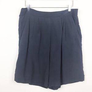 Vintage | 100% Silk Flowy Bermuda Shorts